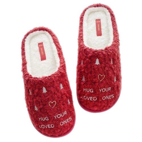Тапочки Hug your loved ones Halluci красный 36-37 (Halluci)Домашняя обувь<br>
