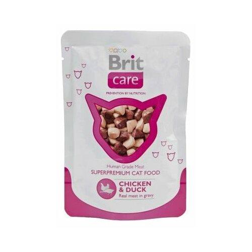 Фото - Корм для кошек Brit Care с курицей, с уткой 80 г (мини-филе) лакомство для собак brit let s bite fillet o duck филе утки 80 г