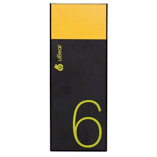 Аккумулятор uBear Light 6000 черный/желтыйУниверсальные внешние аккумуляторы<br>
