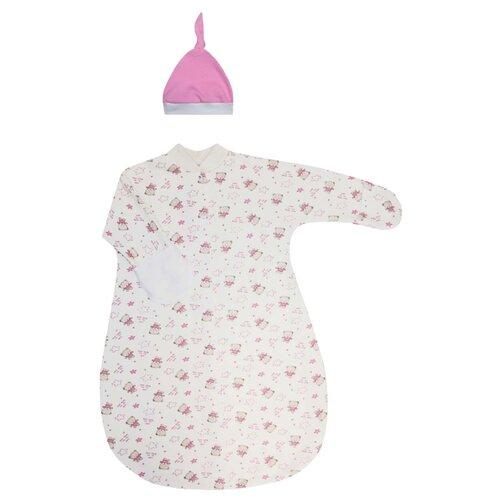 Фото - Комплект одежды KotMarKot размер 62-68, бежевый/розовый комплект одежды kotmarkot размер 62 68 белый голубой