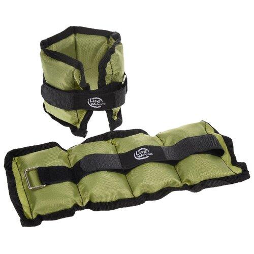 Набор утяжелителей 2 шт. 0.5 кг Lite Weights 5861WC зеленый бодибар lite weights 33 х 1200 мм 6 кг