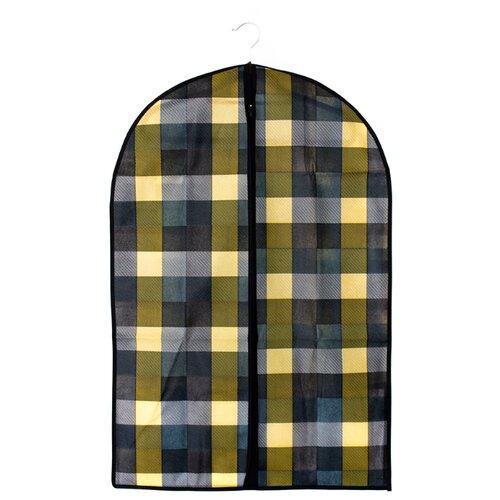 Vetta Чехол для одежды Клетка 90х60см синий/серый/желтыйЧехлы для одежды<br>