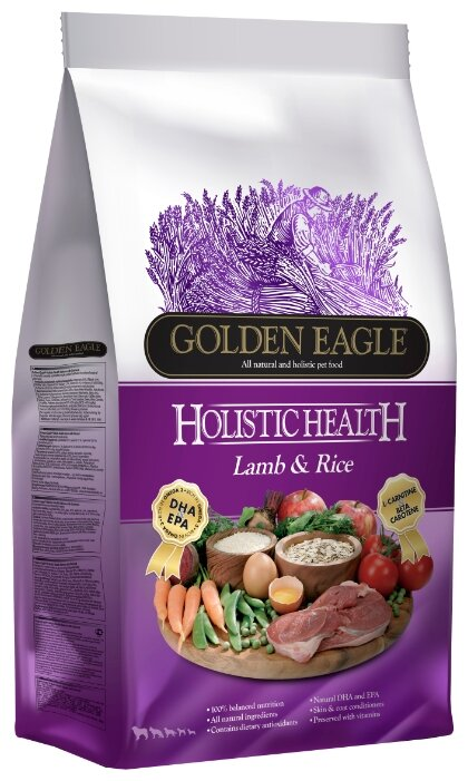 Корм для собак Golden Eagle Holistic Health Lamb Formula 22/15