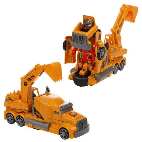 Купить Робот-трансформер Feng Fa Toys Super Car Машина-робот (Экскаватор) AK-929A разноцветный, Роботы и трансформеры
