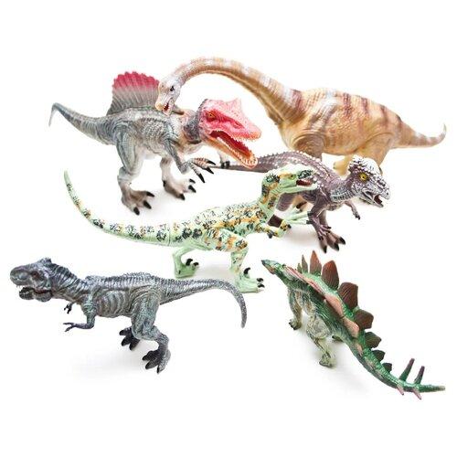 Фигурки PhantomKids Cretaceous Стегозавр, Спинозавр, Тиранозавр, Бронтозавр, Велоцираптор, Пахицефалозавр FL6020340/3308-2Игровые наборы и фигурки<br>