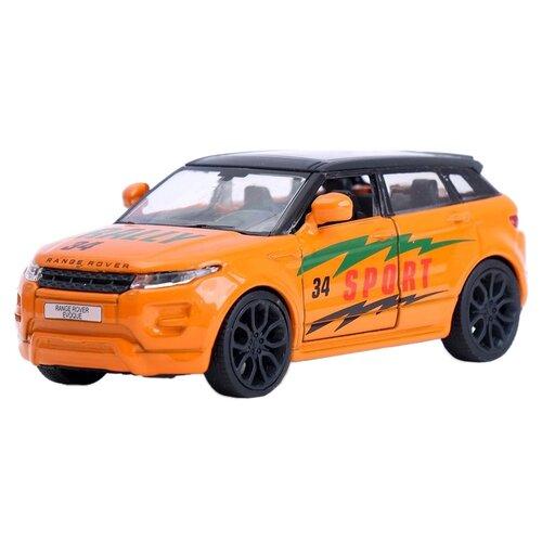 Легковой автомобиль ТЕХНОПАРК Range Rover Evoque (EVOQUE-S), 12.5 см, оранжевый