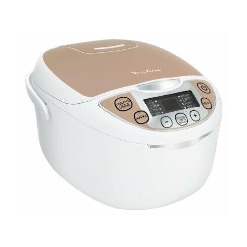 Мультиварка Moulinex MK 706A32 белый/персиковый