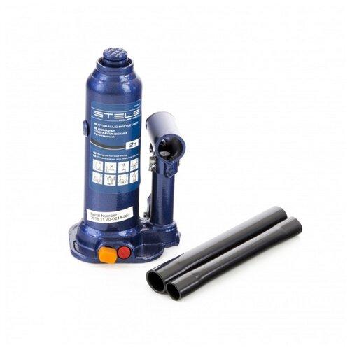Домкрат бутылочный гидравлический Stels 51172 (2 т) синий