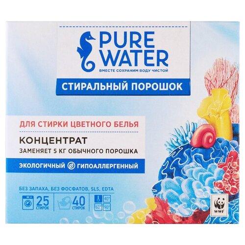 Стиральный порошок PURE WATER Для цветного белья концентрат картонная пачка 0.8 кг