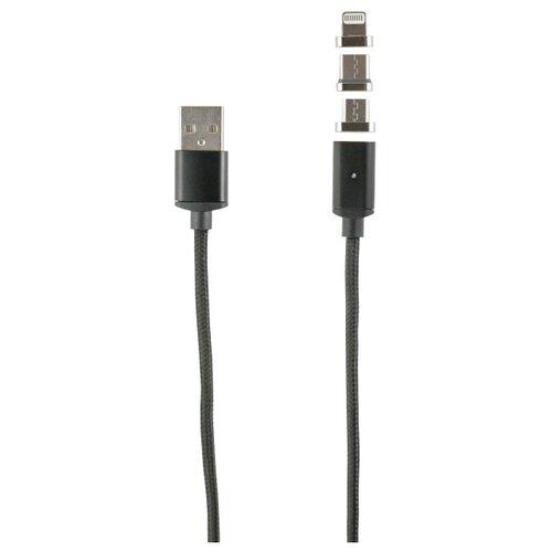 Кабель Red Line USB - Lightning/USB Type-C/microUSB 1 м черный usb кабель usb10 03bp белый microusb lightning 1м
