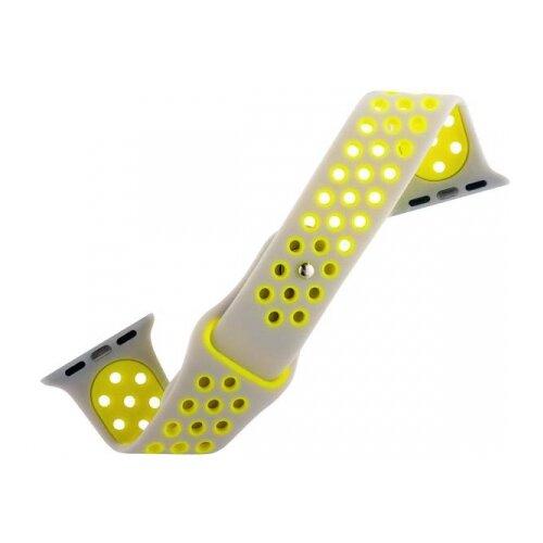 COTEetCI Ремешок W12 Sport Band для Apple Watch 42/44mm серебристый/желтый ремешок для смарт часов coteetci w33 для apple watch series 2 3 4 42 44mm красный