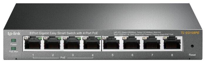 TP-LINK Коммутатор TP-LINK Easy Smart TL-SG108PE V2