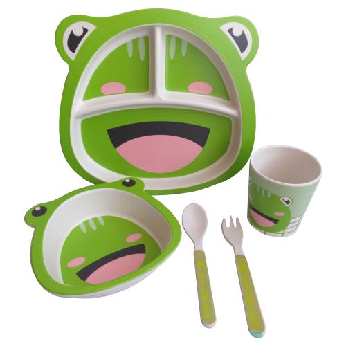 Купить Комплект посуды Baby Ryan BF015 лягушка зеленая, Посуда
