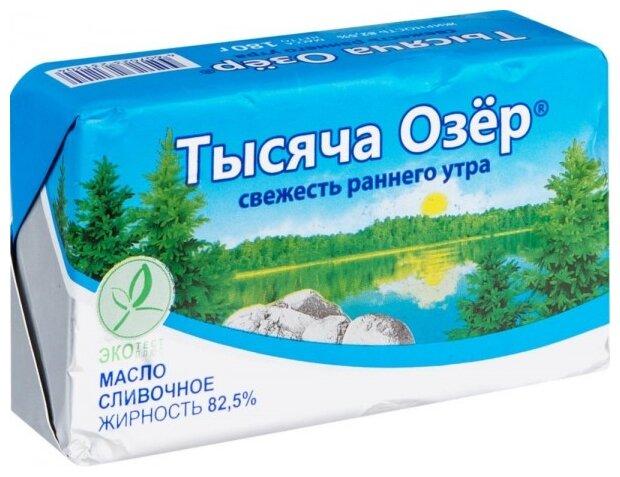 Тысяча Озёр Масло сливочное 82.5%, 180 г
