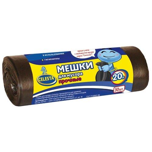 Мешки для мусора Celesta 20 л (30 шт.) черный мешки для мусора celesta с завязками цвет синий 35 л 30 шт