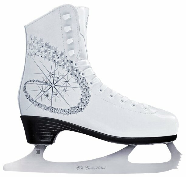 Фигурные коньки PRINCESS LUX leather 100% (Белый (38))