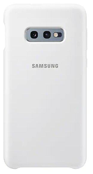 Чехол (клип-кейс) Samsung для Samsung Galaxy S10e Silicone Cover белый (EF-PG970TWEGRU)