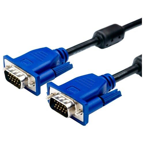 Кабель Atcom VGA - VGA (АТ9150) 5 м черный/синий кабель vivanco vga vga 1 8 м 45445