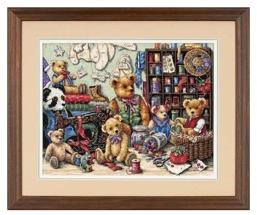 Dimensions Набор для вышивания Buttons and Bears (Пуговицы и мишки) 41 х 30 см (35151)