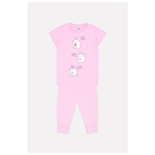 Пижама crockid размер 86, розовый
