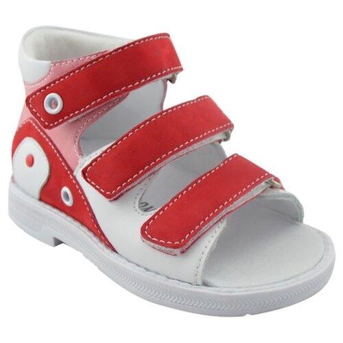 Сандалии Orthoboom размер 28, белый/красныйБосоножки, сандалии<br>