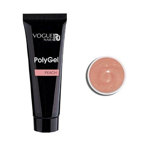Акригель Vogue Nails PolyGel камуфлирующий для моделирования, 60 мл peach