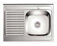 Накладная кухонная мойка Ledeme L98060-6R 80х60см нержавеющая сталь