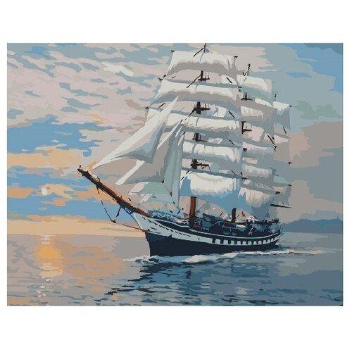 Купить ВанГогВоМне Картина по номерам Белый парусник , 40х50 см (ZX 21924), Картины по номерам и контурам