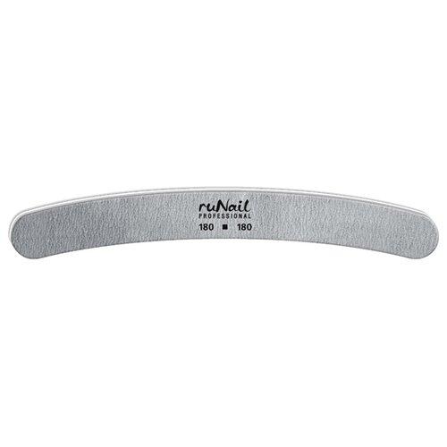 Runail Профессиональная пилка для искусственных ногтей, 180/180 грит серый