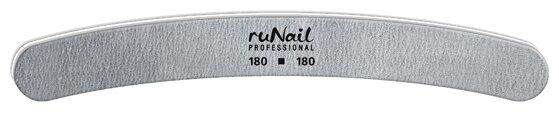 Runail Профессиональная пилка для искусственных ногтей, 180/180 грит