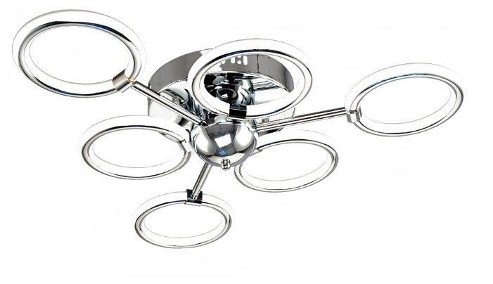 Люстра светодиодная Максисвет Геометрия 1-1410-6-CR Y LED, LED, 64 Вт