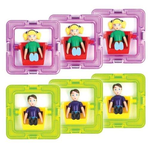 Дополнительные детали Magformers 60203 3 мальчика и 3 девочки дополнительные детали magformers 713016 супертреугольники в коробке 12