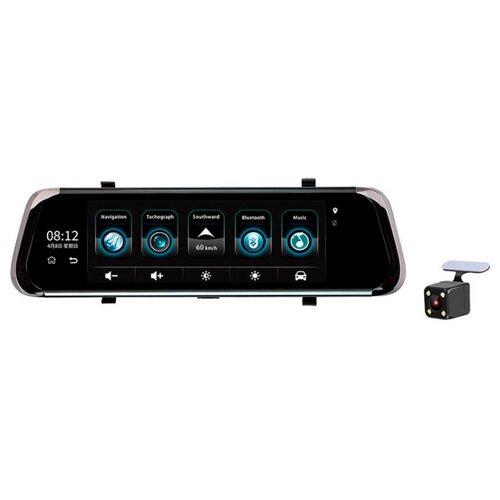 Видеорегистратор RECXON Panorama V2, 2 камеры, GPS черный