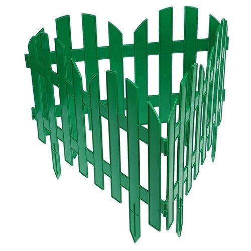 Забор декоративный PALISAD Романтика, зеленый, 3 х 0.28 м