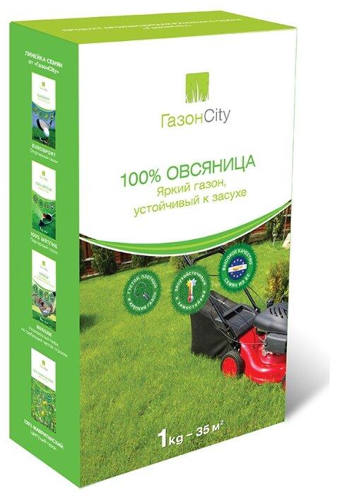 Семена ГазонCity Овсяница 100% Яркий газон, 1 кг