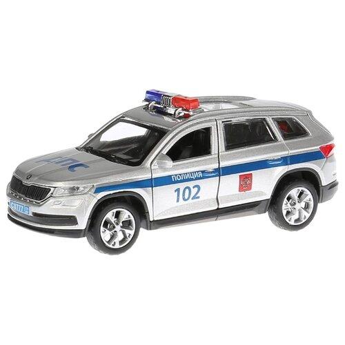 Купить Легковой автомобиль ТЕХНОПАРК Skoda Kodiaq Полиция (KODIAQ-P) 12 см серый/синий, Машинки и техника