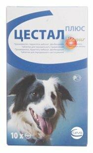 Антигельминтик CEVA Цестал плюс жевательные таблетки для собак, 8 таб.
