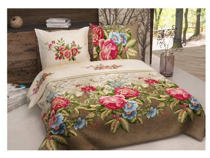 Постельное белье 2-спальное Текстильная лавка Кружева 70 x 70 бязь коричневый