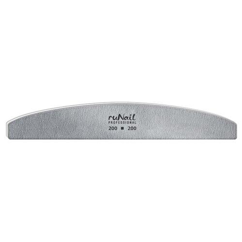 Runail Профессиональная пилка для искусственных ногтей, 200/200 грит серый