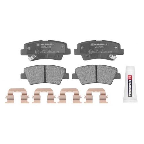 Дисковые тормозные колодки задние Marshall M2624934 для Hyundai Solaris, Hyundai Tucson, Kia Rio (4 шт.)