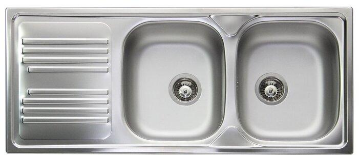 Врезная кухонная мойка smeg LYP116S 116х50см нержавеющая сталь