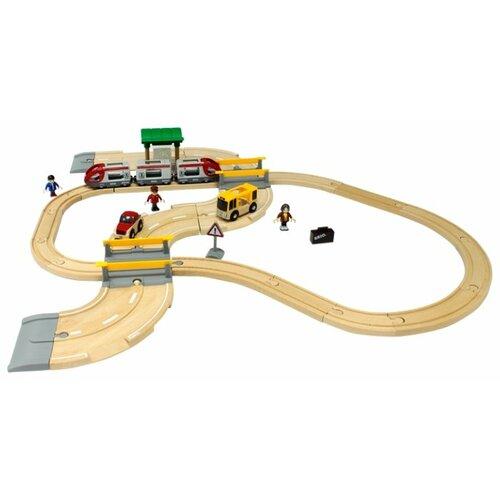 Купить Brio Стартовый набор из 33 элементов с переездом и станцией, 33209, Наборы, локомотивы, вагоны