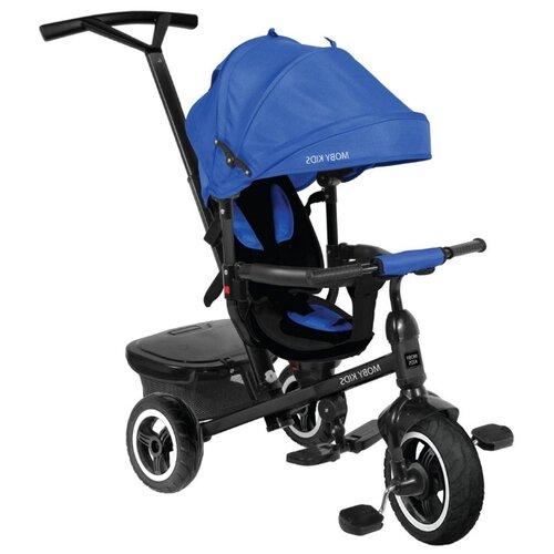 Купить Трехколесный велосипед Moby Kids Rider 360° 10x8 AIR синий, Трехколесные велосипеды