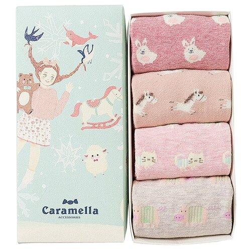 носки Сказка C51594 набор 4 пары Caramella розовый 22-25 (Caramella)Носки<br>