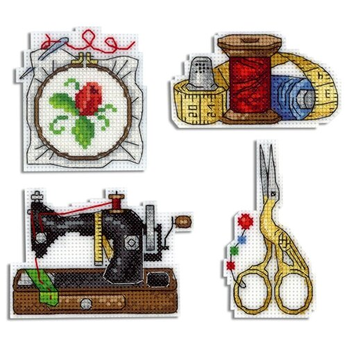 Жар-птица Набор для вышивания Рукодельные магниты 8 x 6 см (р-339)
