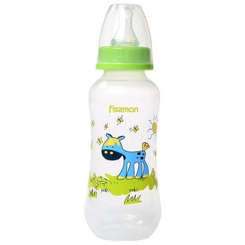 Купить Fissman Бутылочка пластиковая 300 мл 688168826883 с рождения, салатовый, Бутылочки и ниблеры