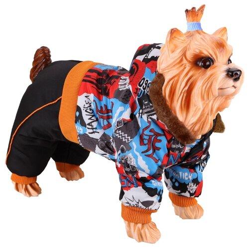 Комбинезон для собак DEZZIE 56356 мальчик, 25 см черный/оранжевый/голубой/красный