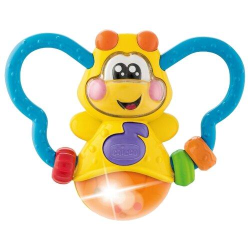 Погремушка Chicco Бабочка 00009707000000 голубой/желтый/оранжевый шторы рулонные ролло идея рулонная штора ролло lux samba цветы зеленый оранжевый желтый 160 см