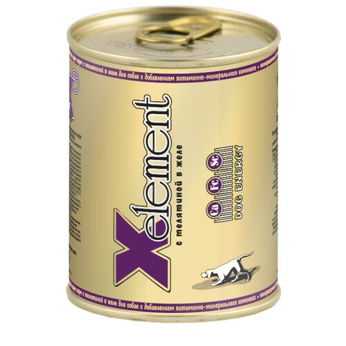 Влажный корм для собак X-Element телятина 340г