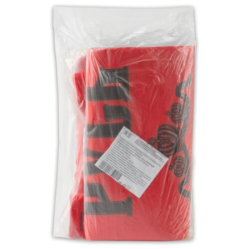 Пакет-майка Юпласт Русь 30(+16)х55 см 25 мкм красный 100 шт.